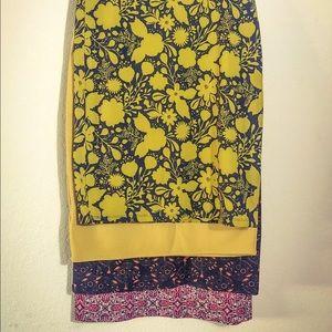 Lula Roe Cassie pencil skirt bundle size XL
